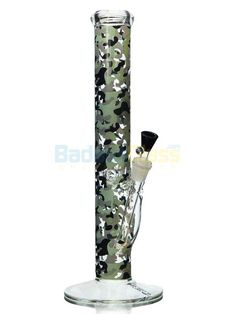 """15"""" Camouflage Bong by AMG  #coolbongs #camopipe #camobong #coolstonerstuff #bong #waterpipe #stonergifts #camouflage Ice Bong, Big Rip, Cool Bongs, Online Head Shop, Water Bongs, Pipes And Bongs, Glass Bongs, Swirl Design, The Smoke"""