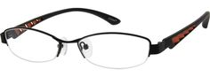 Women's Black 5315 Metal Alloy Half-Rim Frame with Plastic Temples | Zenni Optical Glasses-ueelrayz