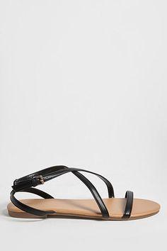 e42b5baa00e3 Crisscross Faux Leather Sandals