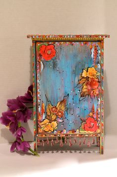 Painted Boho Wooden Standing Cabinet by OliviabyDesign