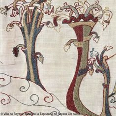 """The aptly named """"Bayeux stitch"""", on the Bayeux tapestry."""