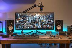 """By xramzal Monitor: Acer Predator X34 Mouse mat: Corsair Gaming MM300 Keyboard: Corsair Strafe RGB Speakers: Yamaha HS5"""