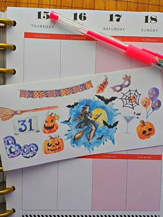 Halloween Party Elements Planner Sticker Set for all planners & Erin Condren