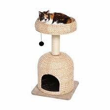 Tucker Murphy Pet Fine (and fun) spacious dome cubby with faux fur pillow, comfy basket bed and sisal-wrapped supports. Litter Box Enclosure, West Home, Cat Perch, Sisal Rope, Fur Pillow, Cat Condo, Pet Furniture, Scratching Post, Kitty Cats