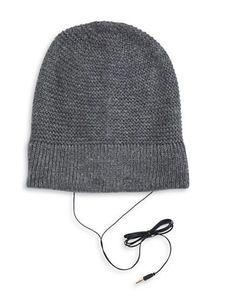 Rebecca Minkoff Always On Headphone Knit Beanie Women's Grey