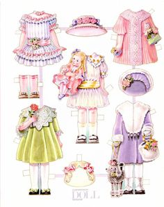 AshLeY _ Paper doll-Vintage, cute, pretty, dress, country, and Little girl 2