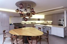 Brooklyn Heights Townhouse - contemporary - kitchen - new york - SPG Architects Modern Dining Room Lighting, Modern Chandelier, Chandeliers, Kitchen New York, Kitchen Dining, Dining Table, Ikea, Room Lights, Townhouse