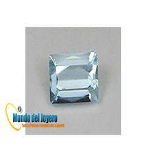 4x4mm Agua Marina Glass Cuad(Un)