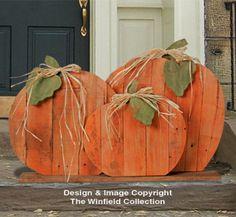 Pallet Wood Pumpkins Pattern - Sooo Cute!!!