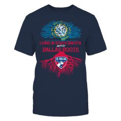 FC Dallas - Living Roots South Dakota T-Shirt, TIP: If you buy 2 or more (hint: make a gift for someone or team up) you'll save quite a lot on shipping.  Click the GREEN BUTTON, select your size and style.  The FC Dallas Collection, OFFICIAL MERCHANDISE  Available Products:          Gildan Unisex T-Shirt - $24.95 Gildan Women's T-Shirt - $26.95 District Women's Premium T-Shirt - $29.95 District Men's Premium T-Shirt - $28.95 Next Level Women's Premium Racerback Tank - $29.95 Gildan Unisex…