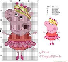 Схема свинки пеппы вышивка 73