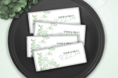 Caring Whispers Candy Bar Favor: Wedding Wrappers wrappedhersheys.com #mint #wedding #customcandy