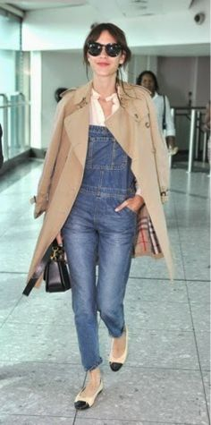 How to Chic: ALEXA CHUNG DENIM OVERALLS