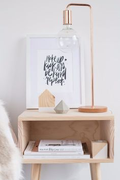 Cubby bedside - Lilyjane Boutique | Wake up Kick ass print by Maiko Nagao