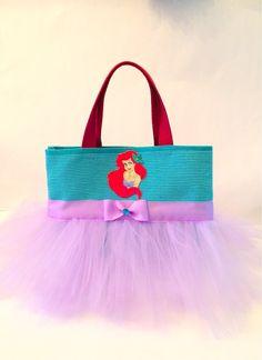 d435729674 Disney Tote Bags · Little Mermaid Purple Tutu Bag - Lavender Dance Bag - Tutu  Tote on Etsy
