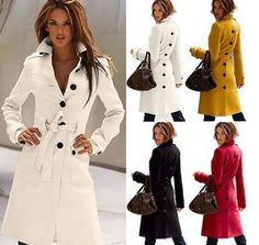 2016 New Autumn Winter Wool Coat Cashmere Middle Length Women'S Outerwear Coats Slim Sexy Trench Coats Large Size Ladies' Cloth Outwear Overcoat From Sunbb03, $35.28 | Dhgate.Com