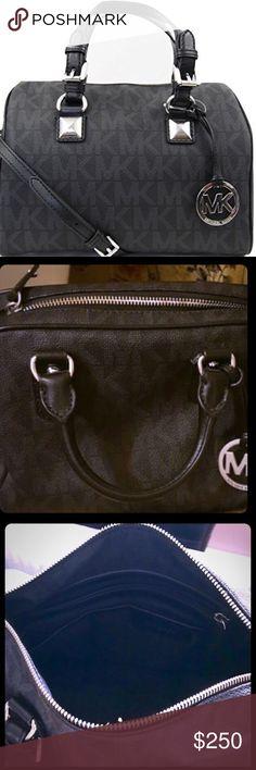 fdca85e83eb Authentic 348 MK NWT Michael Kors Grayson Satchel Michael Kors MD Grayson  Satchel Handbag Signature MK