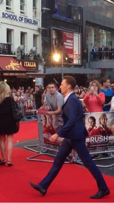 Tom Hiddleston at the Rush premiere.