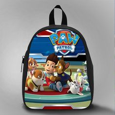 Fee Paw Patrol, School Bag Kids, Large Size, Medium Size, Small Size, Red, White, Deep Sky Blue, Black, Light Salmon Color