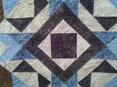 Delbert & Lenora's quilt made by Shirley. Longarm quilted by Le Ann Weaver of www.persimmonquilts.com