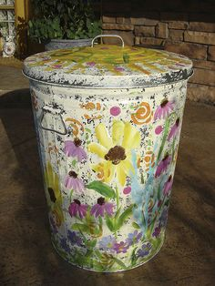 Yes, I want to paint a garbage can