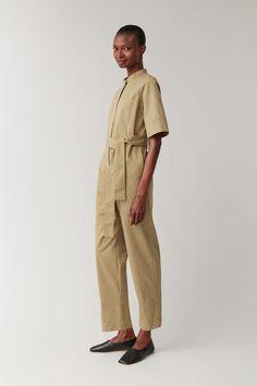 Productpage - COS US Short Jumpsuit, Jumpsuit Dress, Cos Looks, Beige Jumpsuits, Fashion Studio, Kaftan, Short Sleeves, Women Wear
