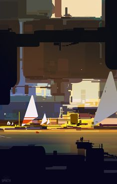 Scene with two triangles, sparth - nicolas bouvier on ArtStation at http://www.artstation.com/artwork/scene-with-two-triangles