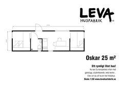 Attefallshus 25 kvm Tiny House Plans, House Floor Plans, Backyard Guest Houses, Micro House, Compact Living, Little Houses, Tiny Houses, Cabin Plans, Modular Homes