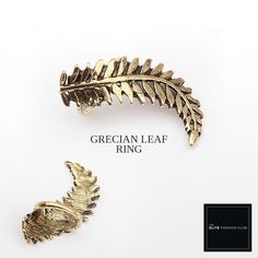 TEFC Grecian Leaf Ring | Use this exclusive code: PINTEREST05 for 5% off all fashion products @ theelitefashionclub.storenvy.com