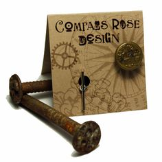 Ozark Vintage Button Tie Pin  by Compass Rose
