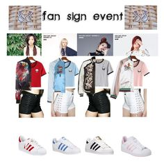 Fan sign event by bbybjoo on Polyvore featuring polyvore WithChic Glamorous River Island Philipp Plein Tripp adidas adidas Originals fashion style clothing