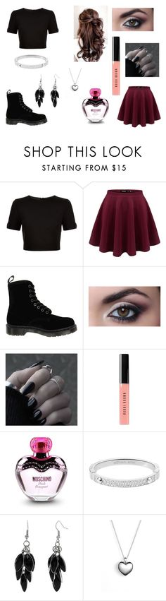 """Date With Ticci Toby"" by ariettav ❤ liked on Polyvore featuring Ted Baker, Dr. Martens, Bobbi Brown Cosmetics, Moschino, Michael Kors, Alexa Starr, Pandora, creepypasta and ticcitoby"