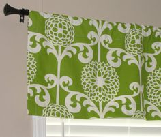 Waverly Fun Floret Spruce Green Valance 52 by LettsSewSomething, $35.00