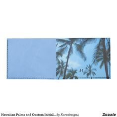 Hawaiian Palms and Custom Initial Tyvek Wallet