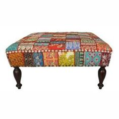 patchwork ottoman - Google Search