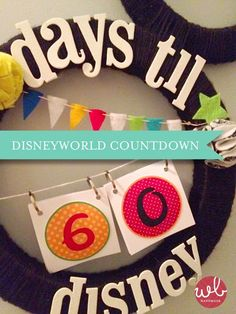 We're Kickin' off our new series: a Disney Vacation Countdown! So many awesome Disney-themed crafts, games, food, decor and more! Disney World Countdown, Vacation Countdown, Disney World Vacation, Disney Vacations, Disney Trips, Countdown Ideas, Disney Cruise, Countdown Calendar, Disney Diy