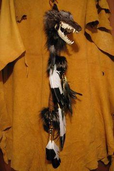 Silver Fox Talking Stick...www.nativearts.com