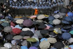 """Umbrella revolution"". Protest for Democracy, Hong Kong, 29 Sept 2014"