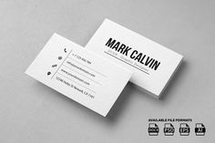 Simple Individual Business Card by Made by Arslan on @creativemarket