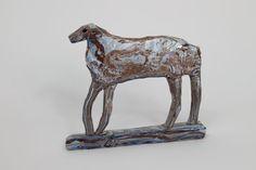 Marbled Horse Dog Ceramic Rose de Borman