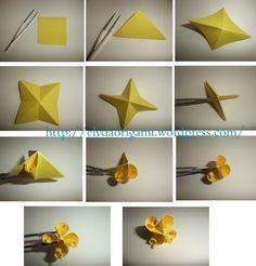 kusudama(1) Origami Pig, Origami Lamp, Origami And Quilling, Origami And Kirigami, Origami Paper Art, Diy Paper, Paper Flowers Diy, Handmade Flowers, Paper Folding Crafts
