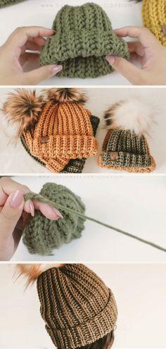 Loom Knitting, Hand Knitting, Knitting Patterns, Crochet Patterns, Fall Patterns, Knitting Ideas, Crochet Fall, Easy Crochet, Knit Crochet