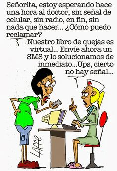 #Humor, #Smartphone, #Sala de espera, #Medicina,#Señal, #3G