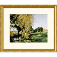 Great American Picture At Broadway Gold Framed Print - John Singer Sargent - 205088-Gold