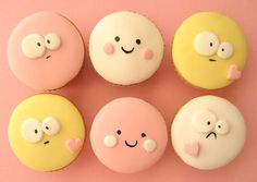 cute face cupcakes by hello naomi, via Flickr