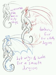 "tempestleopard: ""A friend asked me for help drawing dragons . - tempestleopard: ""A friend asked me for help drawing dragons, so I made a few … – drawing – - Fantasy Drawings, Cool Drawings, Dragon Drawings, Fantasy Art, Animal Sketches, Animal Drawings, Pencil Drawings, Drawing Tips, Drawing Sketches"