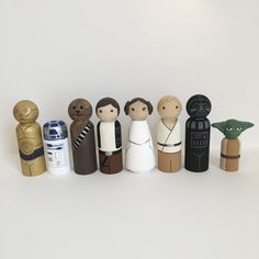 Star Wars Peg Doll Set of 8 by ClarasCreations2011 on Etsy