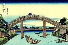 Katsushika Hokusai (葛飾 北斎) - Under Mannen Bridge At Fukagawa