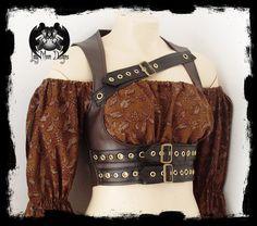 Steampunk Underbust Vest by ~annaladymoon on deviantART