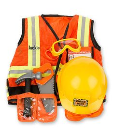 Take a look at this Melissa & Doug Personalized Construction Worker Dress-Up Set today!
